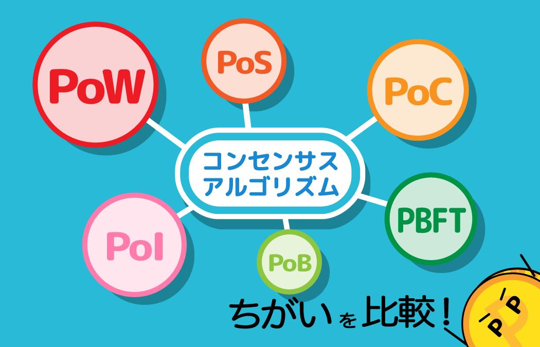 コンセンサスアルゴリズムとは?PoW・PoS・PoC・PoIの違いを比較