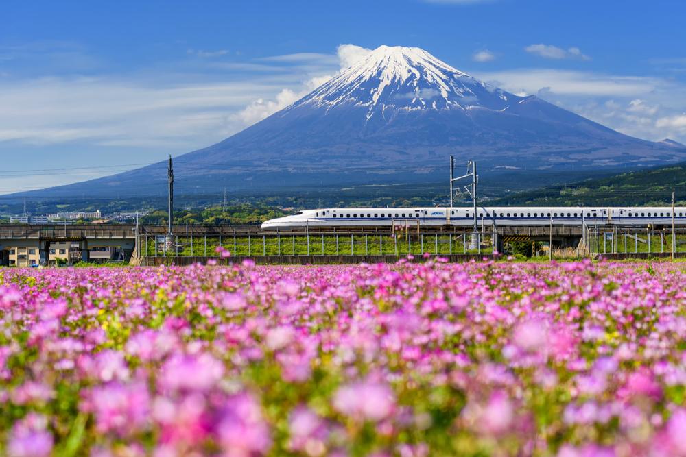 富士山と新幹線写真